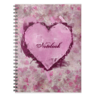 Grungy Hearts Notebook