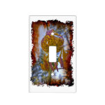 Grungy Humboldt Lily In the Sky Light Switch Cover