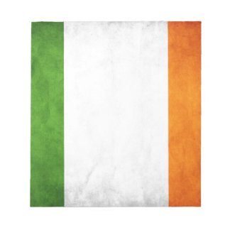 Grungy Irish Flag Notepad