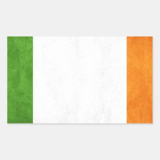 Grungy Irish Flag Rectangular Sticker