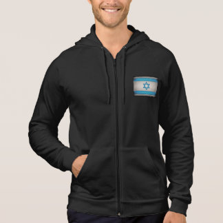 Grungy Israel Flag Star of David Hooded Pullover