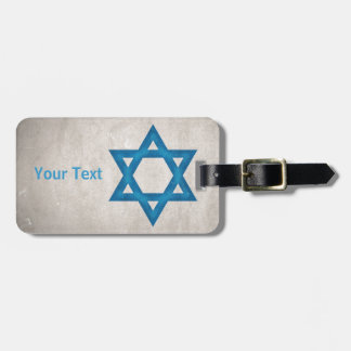 Grungy Israel Flag Star of David Tags For Luggage
