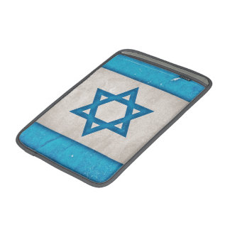 Grungy Israel Flag Star of David Sleeves For MacBook Air