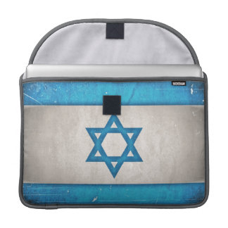 Grungy Israel Flag Star of David Sleeves For MacBook Pro