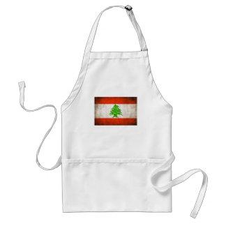 Grungy Lebanon Flag Adult Apron