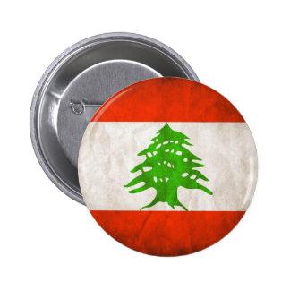Grungy Lebanon Flag Pins