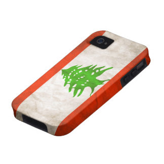 Grungy Lebanon Flag iPhone 4/4S Cases