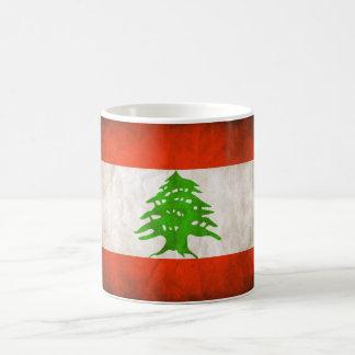 Grungy Lebanon Flag Coffee Mug