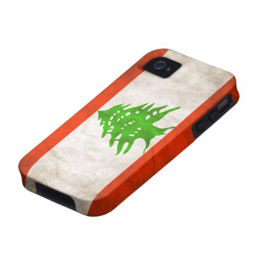 Grungy Lebanon Flag iPhone 4/4S Covers