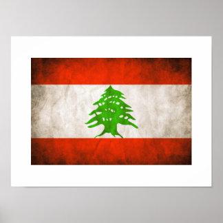 Grungy Lebanon Flag Poster