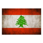 Grungy Lebanon Flag Posters