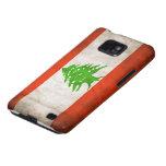 Grungy Lebanon Flag Samsung Galaxy SII Case