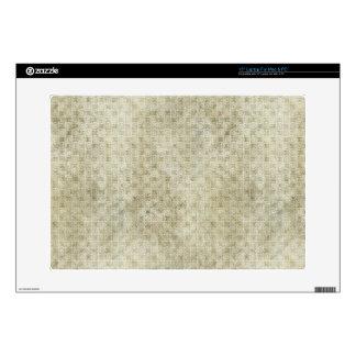 "Grungy Light Retro Pattern 15"" Laptop Skins"