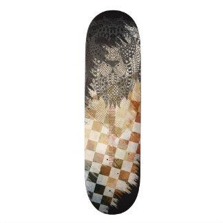 Grungy Lion Skateboard Design
