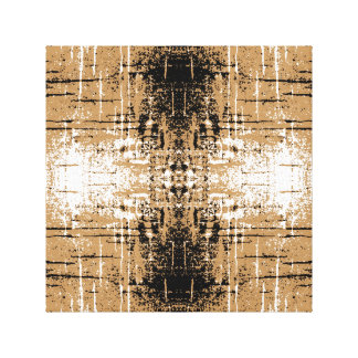 Grungy Look Brown Abstract. Canvas Print