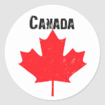 Grungy maple leaf design stickers