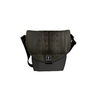Grungy Metal Plate Mini Messenger Bag