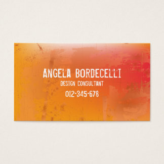 Grungy Misproject Orange Business Card