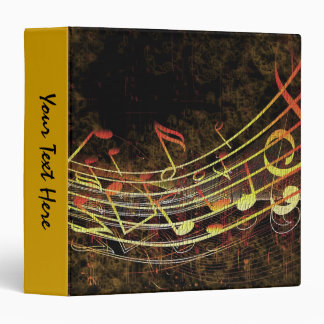 Grungy Music 3 Ring Binder