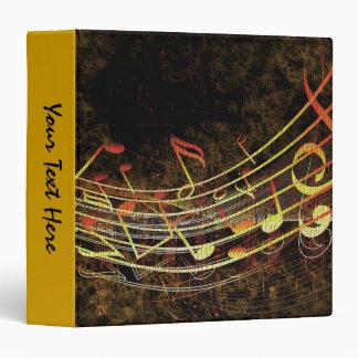 Grungy Music Vinyl Binder