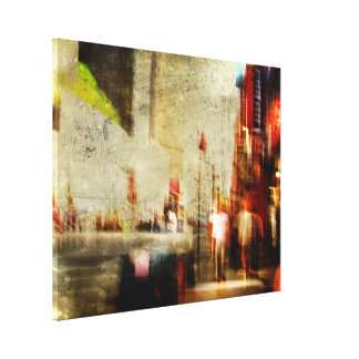 Grungy NYC Abstract Canvas Print