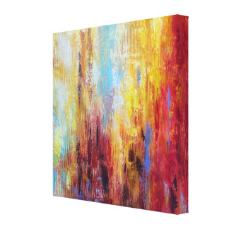 Grungy Oil Abstract Gallery Wrap Canvas