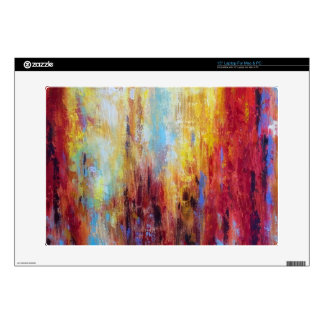 """Grungy Oil Abstract 15"""" Laptop Skins"""