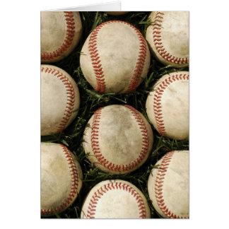 Grungy Old Baseballs Card