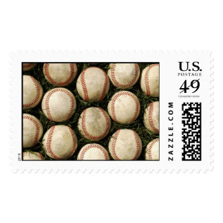Grungy Old Baseballs Stamps