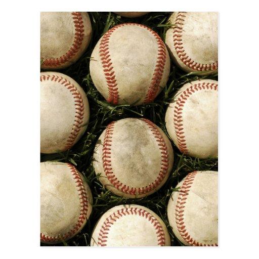 Grungy Old Baseballs Postcard