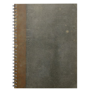Grungy Old Book Cover Notebook