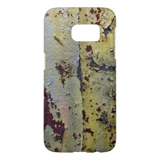 Grungy Old Gold Silver Peeling Paint Samsung Galaxy S7 Case