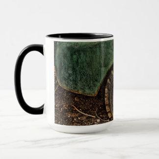 Grungy Old Green Truck Hubcap Tire-Mug Mug