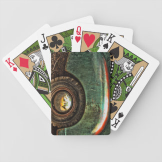 Grungy Old Green Truck - Playing Cards