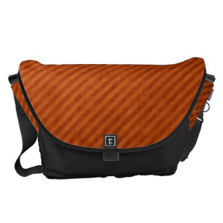 Grungy Orange Pinstripe Pattern Courier Bag