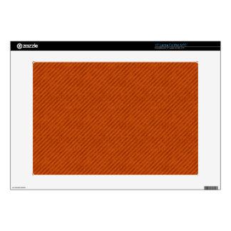 Grungy Orange Pinstripe Pattern Laptop Decals