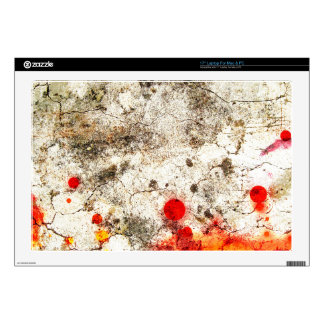 """Grungy Orange & White Abstract Art Decals For 17"""" Laptops"""
