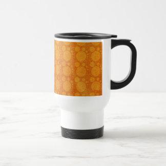 Grungy  Orange Yellow  Polka Dots Pattern Travel Mug