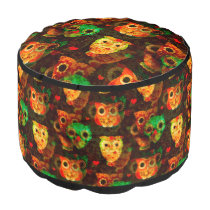 Grungy Owls seamless pattern I   your idea Pouf