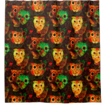 Grungy Owls seamless pattern I   your idea Shower Curtain