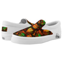 Grungy Owls seamless pattern I   your idea Slip-On Sneakers