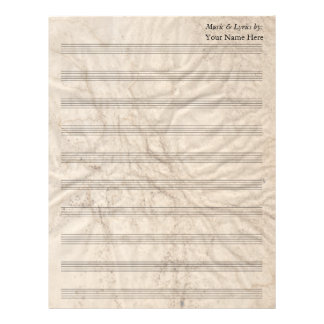 Grungy Paper  Blank Sheet Music 10 Stave