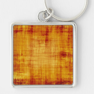 Grungy Parchment Paper Texture Silver-Colored Square Keychain