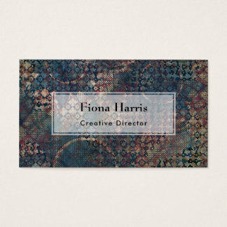 Grungy Patterns with Messy Patchwork of Textures Business Card