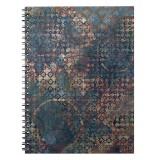 Grungy Patterns with Messy Patchwork of Textures Notebook