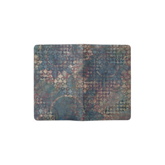Grungy Patterns with Messy Patchwork of Textures Pocket Moleskine Notebook