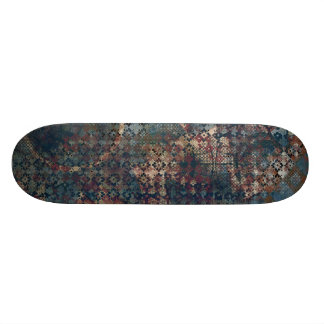 Grungy Patterns with Messy Patchwork of Textures Skateboard Deck
