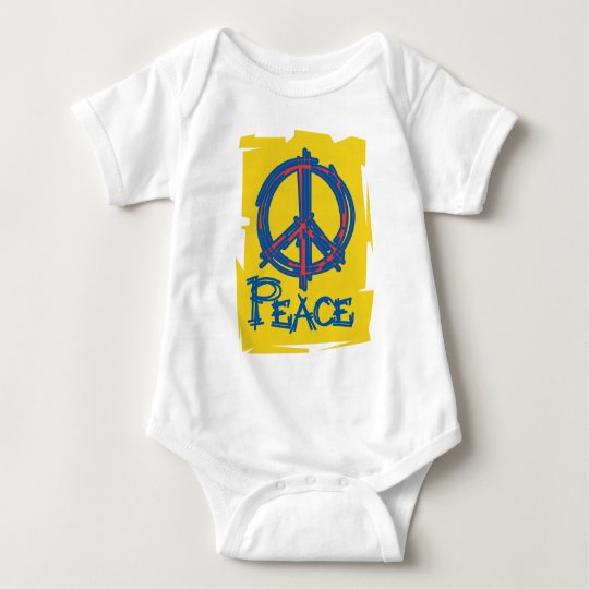 Grungy Peace Sign Baby Bodysuit