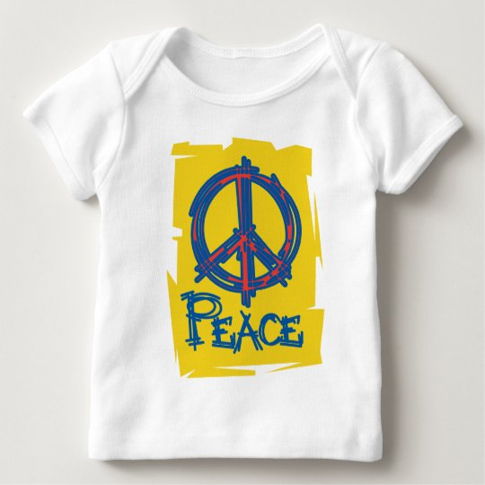 Grungy Peace Sign Baby T-Shirt