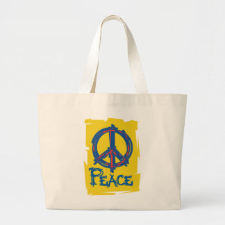 Grungy Peace Sign Jumbo Tote Bag